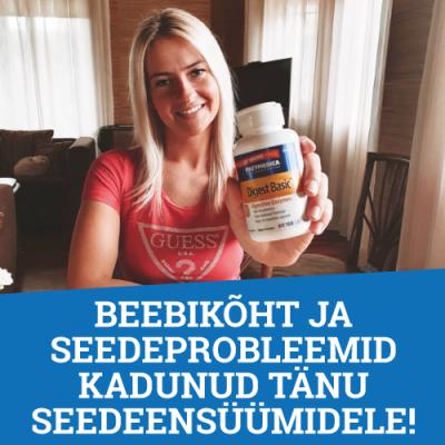 Beebikõht ja seedeprobleemid kadunud tänu seedeensüümidele!