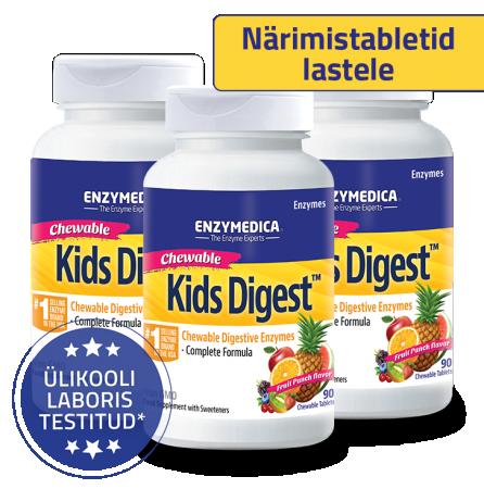 Kids Digest 3-ne komplekt (90 närimistabletti x 3tk)