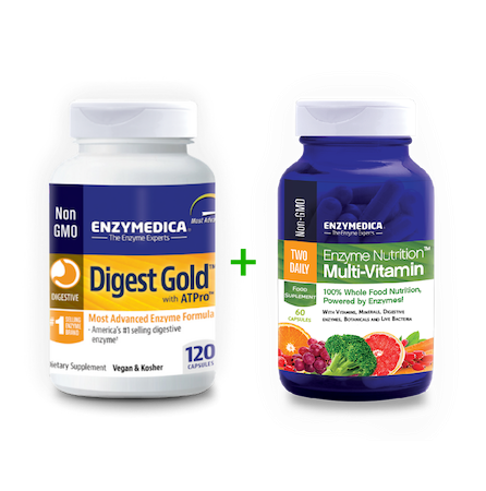 Digest Gold + Enzyme Nutrition Multi-Vitamin komplekt (120 kapslit + 60 kapslit)