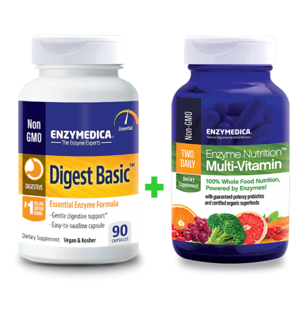 Digest Basic + Enzyme Nutrition Multi-Vitamin komplekt (90 kapslit + 60 kapslit)