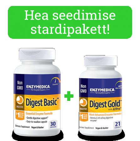 Stardipakett - Digest Basic + Digest Gold komplekt (30 kapslit + 21 kapslit)