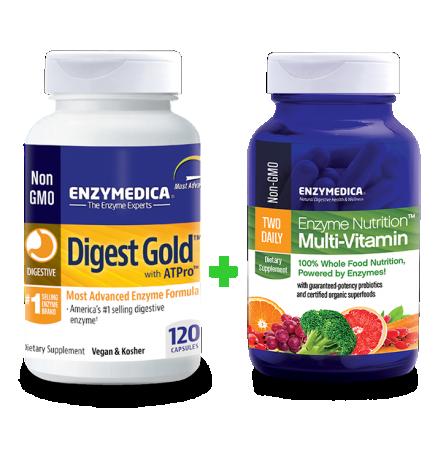 Digest Gold + Enzyme Nutrition Multi-Vitamin komplekt (120 kapslit + 60 kapslit)