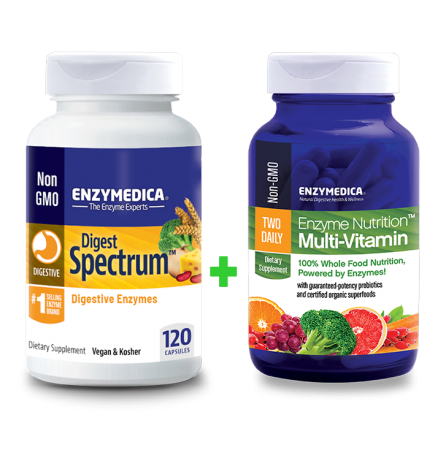 Digest Spectrum + Enzyme Nutrition Multi-Vitamin komplekt (120 kapslit + 60 kapslit)