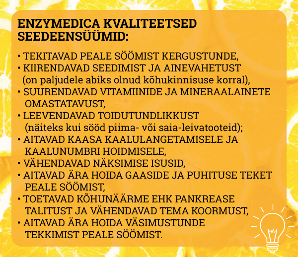 Enzymedica seedeensüümid